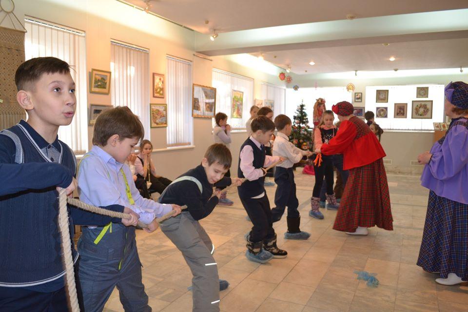 празднование Масленицы в музейно-выставочном центре «Микула»
