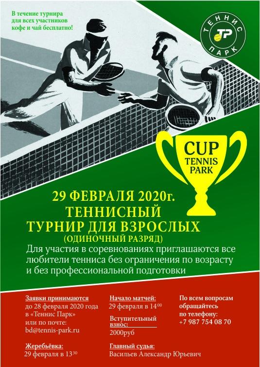 любительский теннисный турнир среди взрослых в одиночном разряде.