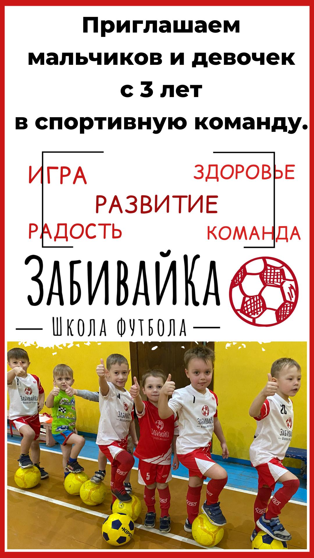 Футбол для детей с 3 лет ЗабивайКа